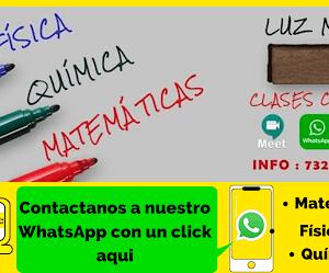 PROFESORA DE MATEMÁTICA/QUÍMICA/FÍSICA (TODA BOLIVIA)