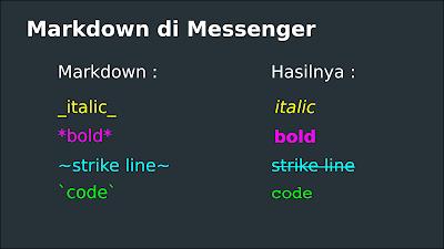 Markdown messenger
