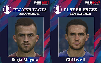 PES 2017 Faces B.Mayoral & Chilwell by Bebo