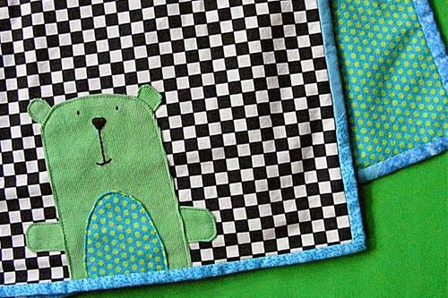Anywhere Bear Receiving Blanket Pattern