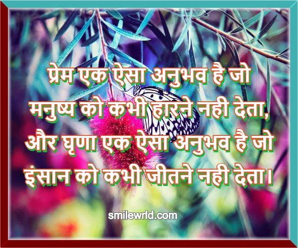 प्रेम और घृणा का अनुभव - Anmol Vichar