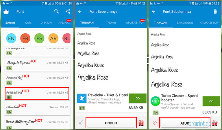 Download Kumpulan Android Fonts Terbaik