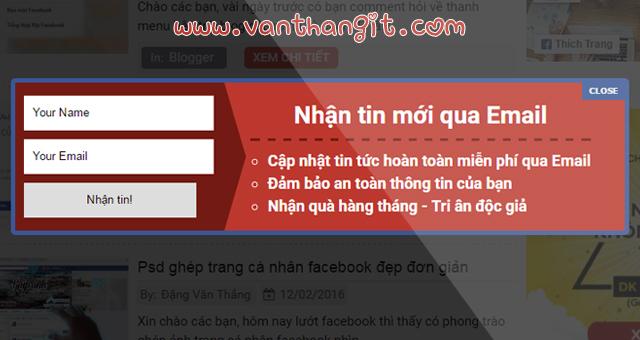[New] Tạo khung theo dõi dạng popup cho blogspot, blogger