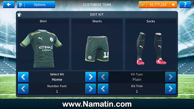 Kaos Dream League Soccer Manchester City