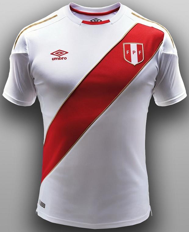 Umbro lança a camisa titular do Peru para a Copa do Mundo - Show de ... 94ac930a0c808