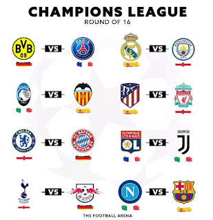 Official: #Champions #League #Round Of 16 #Draw. #CR7