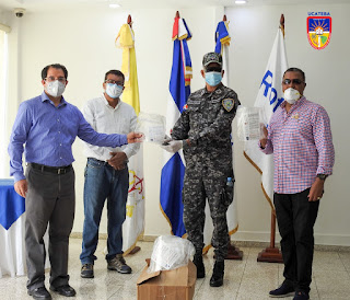 UCATEBA y Club Rotario Barahona donan Máscaras Faciales a varias instituciones ante crisis por COVID-19