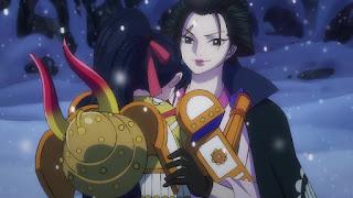 ワンピースアニメ 992話   菊の丞 イゾウ 再会 お菊   ONE PIECE  KIKUNOJO OKIKU IZO