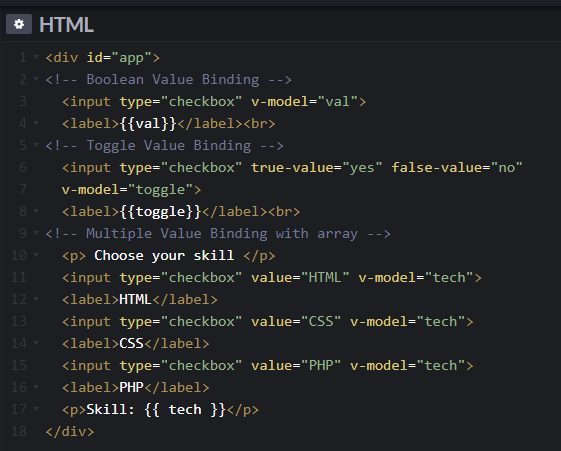 Tutorial Vue Js - Cara Membuat Value Bindings pada Checkbox