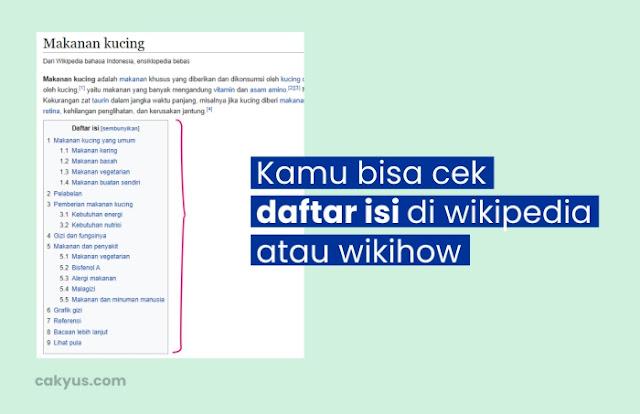 Lihat Daftar Isi Wikipedia - Konten Instagram