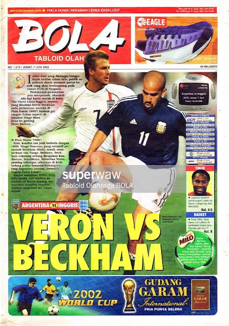 WORLD CUP 2002 ENGLAND VS ARGENTINA BECKHAM VERON
