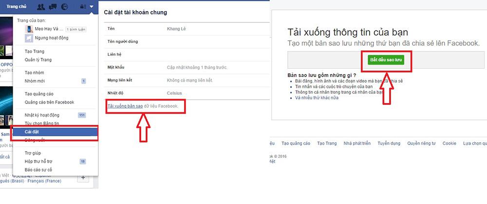 Khôi phục tin nhắn đã xoá trên facebook