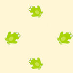 frog pattern paper