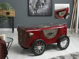 Mesa de centro origina coche