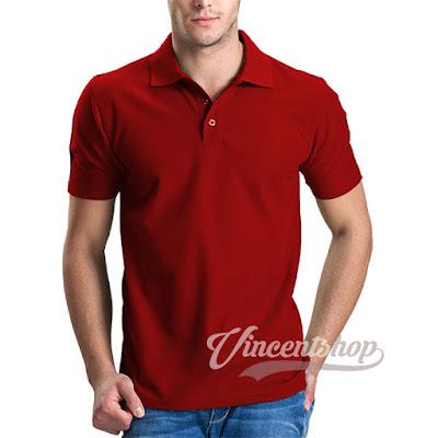 Kaos Polo Shirt Merah
