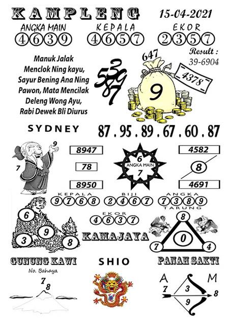 Kampleng Sydney Kamis 15-Apr-2021