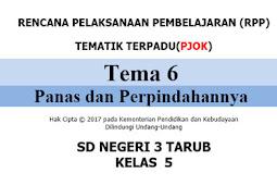 RPP 1 Lembar PJOK Kurikulum 13 SD/MI Kelas 5