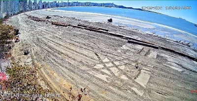 câmera ao vivo do alargamento da faixa de areia de balneario camboriu