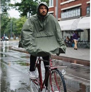 AGU Grant regenponcho fiets