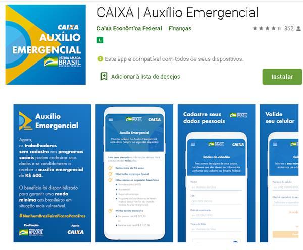 Caixa lança site e aplicativo para solicitar auxílio de R$ 600