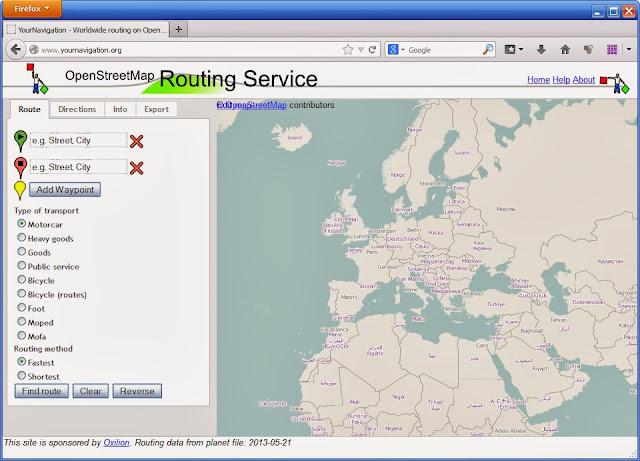 OpenStreetMap прокладка маршрута
