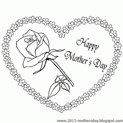 Wallpaper free download happy mothers day coloring pages 2013 for Mother s day spanish coloring pages