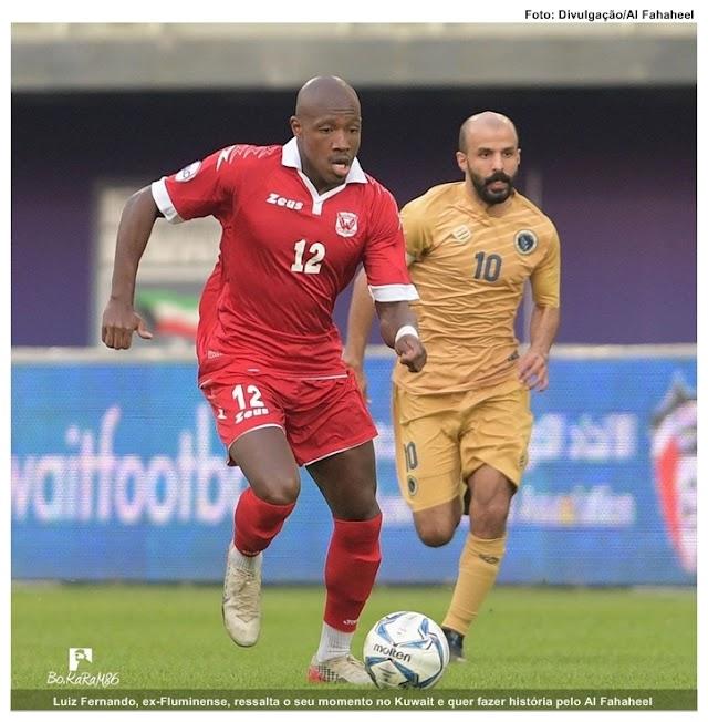 Invicto há seis jogos, Luiz Fernando, ex-Fluminense, ressalta o seu momento no Kuwait e quer fazer história pelo Al Fahaheel