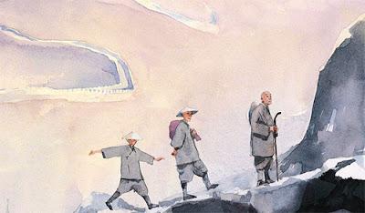 La soupe aux cailloux: Fou, Lou et Shou trois moines zen chinois