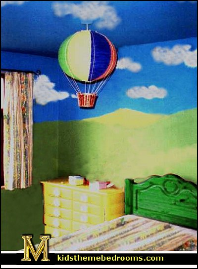 Hot air balloon bedroom ideas - decorating with hot air balloons