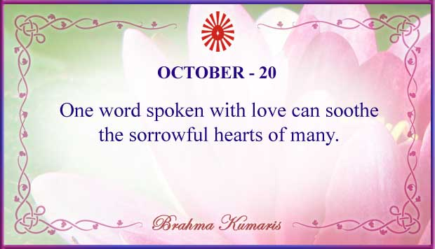 Thought For The Day October 20
