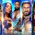 Edge e Sasha Banks sendo anunciados para o SmackDown do dia 16 de Julho