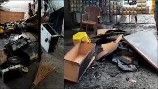दुकान में आग लगने से लाखों का समान जलकर हुआ खाक