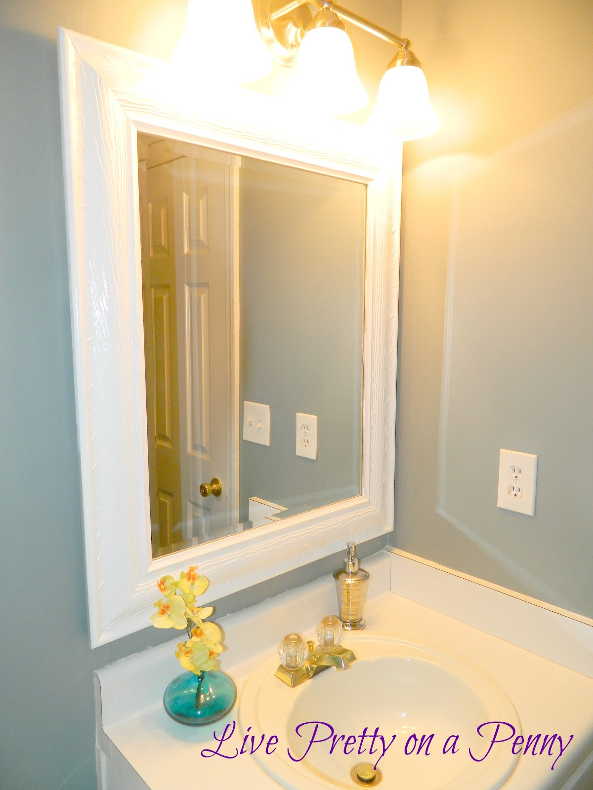 Budget Half Bath Makeover Live Pretty On A Penny