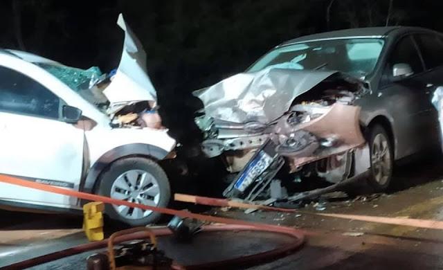 Casal morre em grave acidente na BR-487, entre Luiziana e Iretama