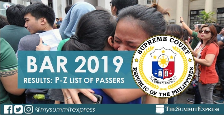 P-Z Passers: Bar Exam Results 2019