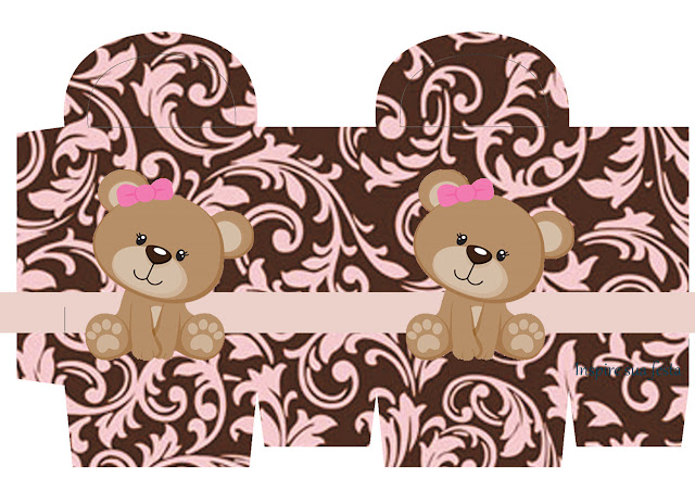 Sweet 16 Cute Bear Free Printable Box.
