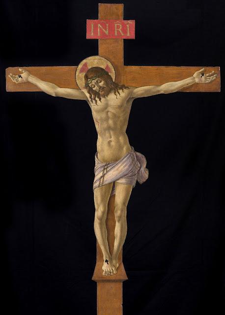 Alessandro Filipepi dit Botticelli (vers 1445 – 1510), Crucifix, vers 1490-1495, tempera sur bois (peuplier ?), 157,5 x 98,8 cm, Diocèse de Prato, Museo dell'Opera del Duomo © Photo Scala, Florence