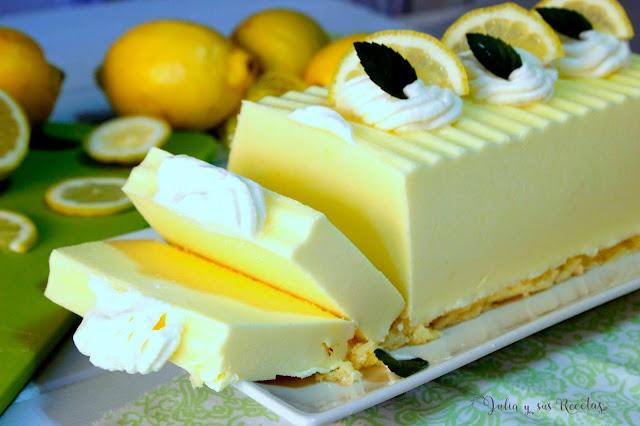 Semifrío helado de limón. Julia y sus recetas