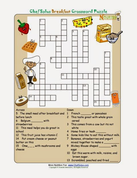 Free Printable Crossword Puzzles