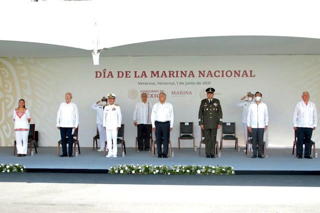 AMLO encabeza ceremonia del LXXIX aniversario del Día de la Marina Nacional