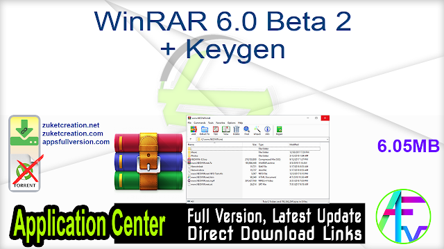 WinRAR 6.0 Beta 2 + Keygen