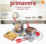 Primavera Cookware 5 Pieces Stainless Steel (Set of 5)