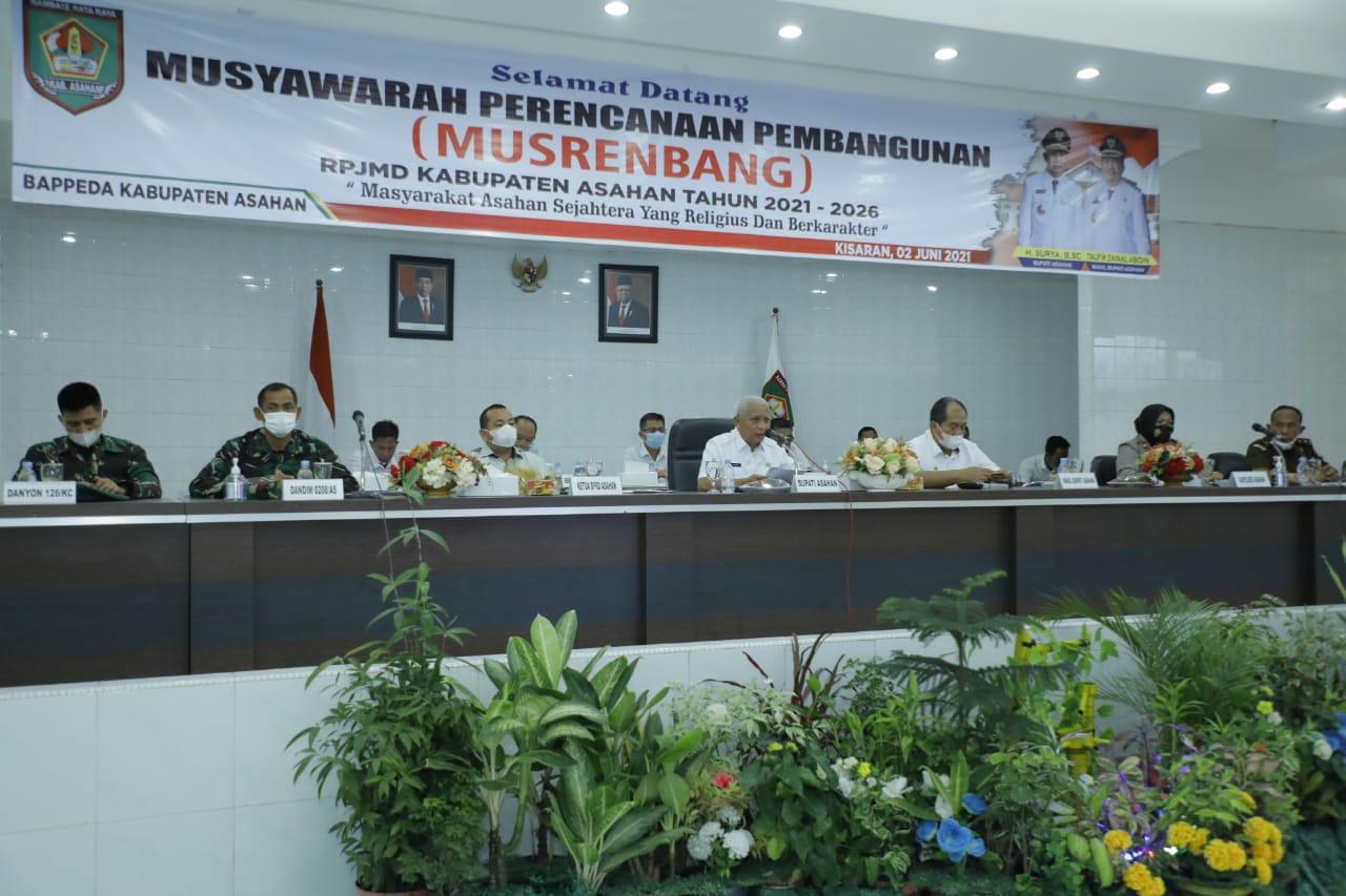 Musrenbang RPJMD Kabupaten Asahan Tahun 2021-2026 Resmi Dibuka Bupati Asahan