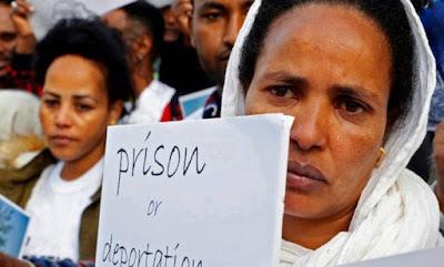 Israel começa a distribuir cartas a imigrantes ilegais africanos