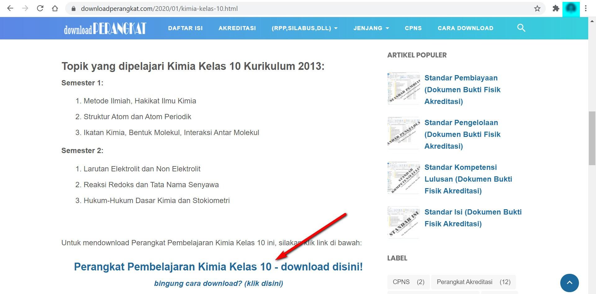 cara download perangkat pembelajaran