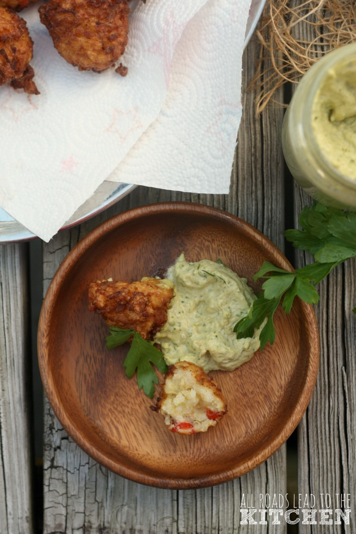 Crawfish Calas w/ Green Garlic Mayonnaise