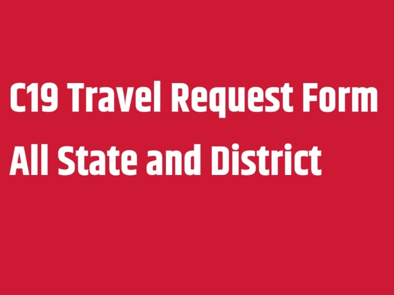 C19 Travel Request Form