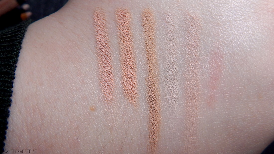Nude eye pencils swatches