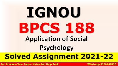 BPCS 188 Solved Assignment 2021-22
