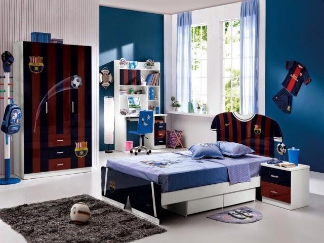 dormitorio niño azul
